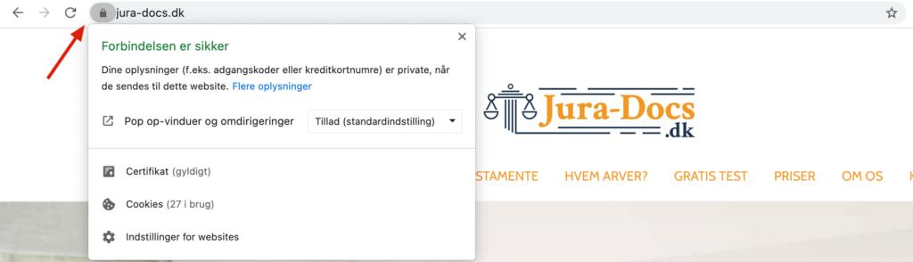 Jura-docs hængelås